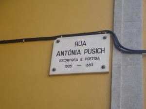 Street named after Antónia Pusich located in Bairro de Alvalade, Lisbon, Portugal. Her last residence was on this street as well.
